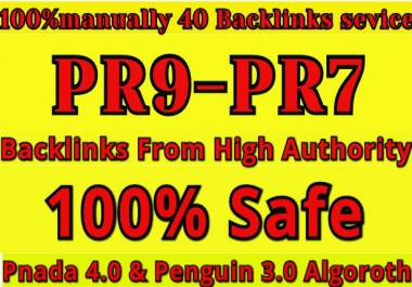 Manually Create 40 PR9 Safe Seo High Profile Backlinks