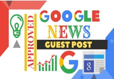Publish Guest Post on Google News Approved Website Da 57