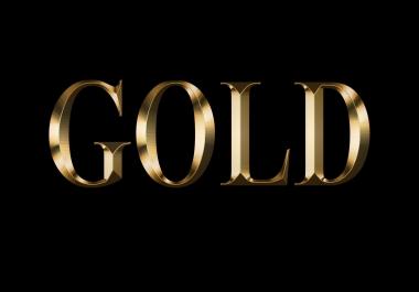 Gold Color Letter Logo