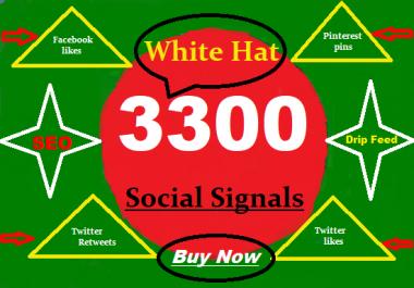 Providing awesome 3300 top SEO social signals