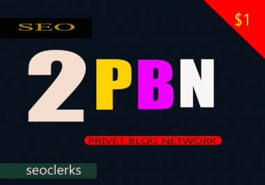 2 Manually Permanent Homepage PBN Backlinks