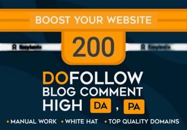Create 200 Unique Domain Blog Comment Quality Backlinks