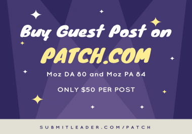 Guest post on patch.com DA89