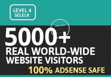 Fast 5000+ WORLD-WIDE Website Visitors ORGANIC With FULLY AdSense Safe Guaranteed