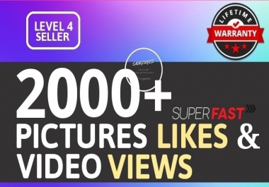 Super Instant 2000+ High Quality Social Pictures Promotion