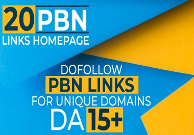 20 Manual High Metrics Dofollow Pbn Backlinks
