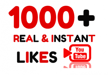 Add Super Instant 1000+ Real Youtube Likes