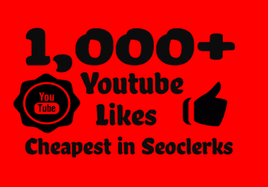 Add Super Fast 1000+ Real Youtube Likes