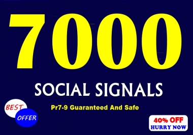 Provide 7000 Premium Authority Social Signals For POSITIVE Effect On SEO Of Website