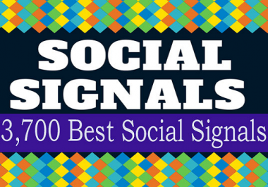 Build up 3700 Manually SEO Social Signals
