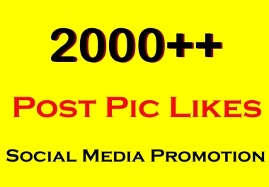 Fast 2000 High Quality Social Pictures Promotion