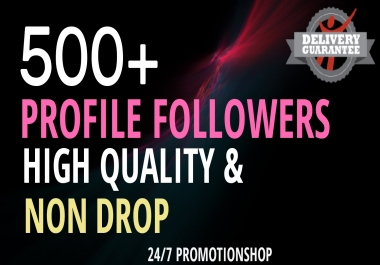 Start Instant 500+ Profile Followers High Quality Organic Package