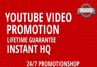 Organic Video PROMOTION With Lifetime Guarantee