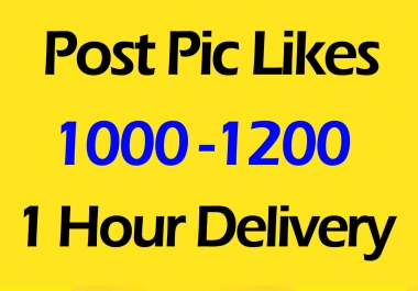 1000 Fast Social Pictures Post Promotion and Marketing in 2 Hours