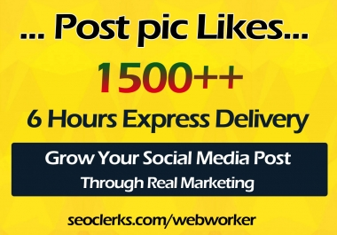 1500+ High Quality Social Pictures Promotion in 24 Hours