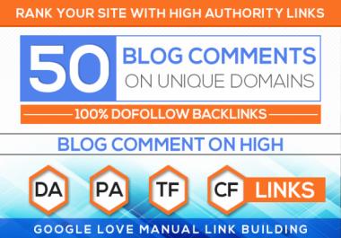 Do 50 Unique Domain High Quality Blog Comment