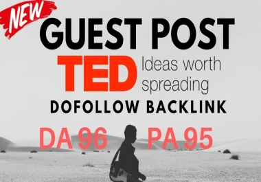 Guest post in TED com in high quality link