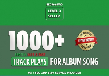 Do Organic 1000 Track Streams for Album Song of Artist Profile