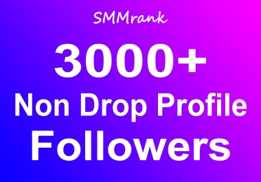 Instant 3000+ Profile Followers Real High Quality + Non Drop