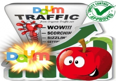 Organic Search Traffic from Daum.net