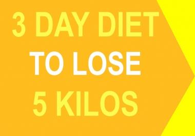 3 day diet to lose 5 kg