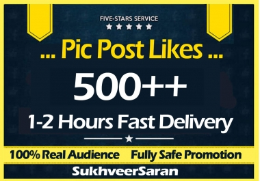 500+ Fast Social Pictures Post Promotion Instantly
