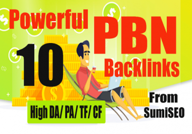 Permanent 10 PBN backlink, DA 30 High