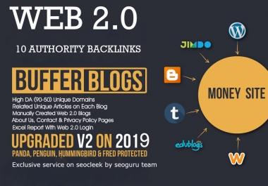 Fire your Google Ranking- Make 10 web 2.0 Backlinks On high PR