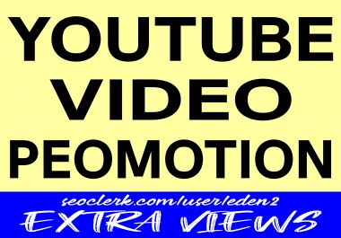 YOUTUBE VIDEO PROMOTION SERVICE & NON DROP & INSTANT HIGH QUALITY
