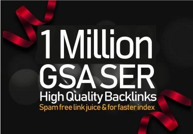 10,00,000 GSA SER Backlinks For Increase Link Juice, Ultimate SEO