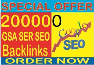 Rank your website 1 in Google-Do 200,000 GSA SER SEO  Highest Quality & Most Effective Backlinks