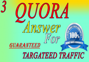 3 High quality Quora Answer your question with upvote