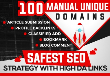 Do 100 Unique Domain High Authority Backlinks PA DA TF CF Upto 100