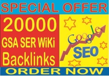 SEO Campaign- Do 200,000 GSA SER wiki Backlinks Boost your Google rank