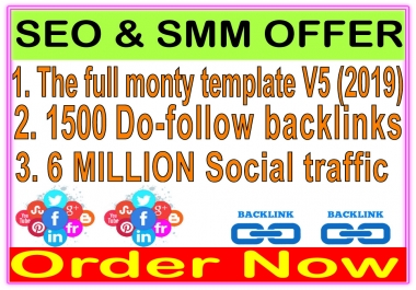 Indexer SEO Package- SEnuke - The full monty template V5-1500 Do-follow backlinks-Promotion 6 Million social People