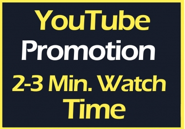 YouTube video Promotion and Marketing Via Real Users Non Drop Guaranteed