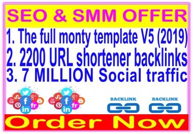SEO & Social Package- SEnuke - The full monty template V5-2200 URL shortener backlinks-Promotion 7 Million social People