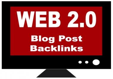 Manually Create 10 High PR Anchor Text Web 2.0 Backlinks
