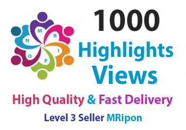 Add Instant 1000 High Quality Social Story Highlights Views