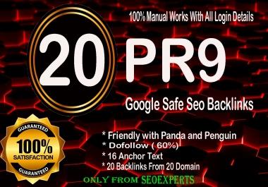 Skyrocket your Google Ranking- 20 Pr9 - 80+ DA High Quality SEO Domain Authority Permanent Backlinks