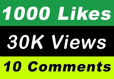 World Wide 30,000 Video Views Promotion Or 1000 Likes Or 10 Comments for Social media Marketing