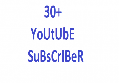 instant  YouTube 30+ promotion via real user active and permanent with fastest