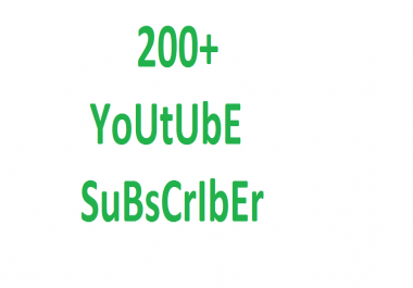 instant YouTube 200+ promotion via real user active and permanent with fastest delivery
