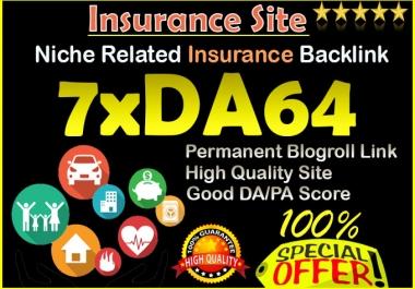 give backlink da64x7 site Insurance blogroll