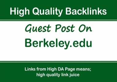 Publish a guest post on Berkeley - Berkeley. edu, DA92