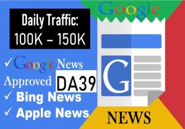 Premium Guest Post On My Google News Approved DA39 News Blog
