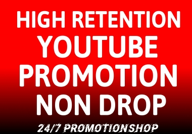 YouTube VIDEO Promotion NON DROP Marketing With Lifetime Guarantee