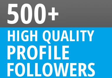 Add Instant 500+ Profile Followers
