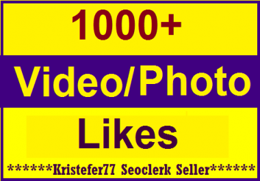 1000+Likes In Social Media High Quality Instant Delivery Just
