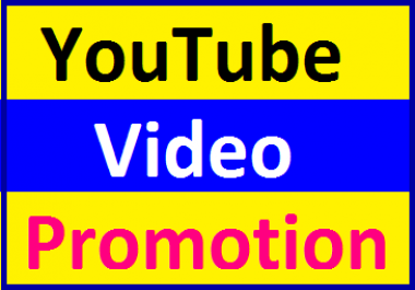 YouTube Video Marketing & Social Media Promotion Very Fast Delivery